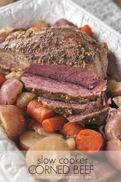 St. Patrick's Day Dinner: Slow Cooker Corned Beef - your homebased mom