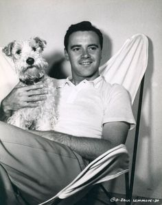 Jack Lemmon with a fox terrier. Or sour and sweet as we call them.