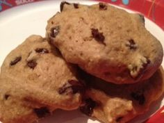 Skinny Ghirardelli Chocolate Chip Cookies. Made with Splenda and applesauce.