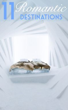 Looking for a Valentine's Day gift? Book a stay at Sweden's Icehotel - one of the most romantic places to go in the world during winter and the quirkiest design for bedroom spaces | pic: Icehotel #romance #winter