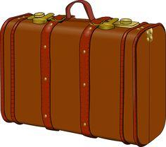 Mala, Antigo, Viagens, Viajante