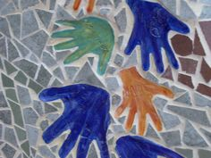 """Handle with Care"" is a community art project created by Media, PA artist Claire Brill--community members contributed their handprints to create a beautiful, permanent mosaic."