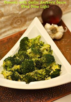 I loved this!  Broccoli with Garlic Anchovy Butter www.fooddonelight.com