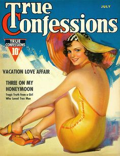 July 1937 - True Confessions: cover art by Zoe Mozert