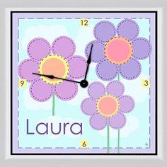"Flowers Personalized 11"" Art Wall Clock"