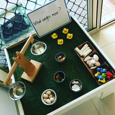 "Rebecca wild (@littleonesearlylearning) on Instagram: ""Invitation to explore weight #makinglearningfun #handsonlearning #montessori #montessoriathome…"""