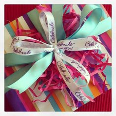 Gift wrapping: birthdays, holiday, baby showers, whatever... Another rule to go by... Stick crinkle cut paper strips ( the easter kind) under your ribbon for a fuller more festive  look - gift wrapping