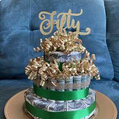 Birthday Money Cake   Etsy Birthday Money, Happy Birthday Signs, 14th Birthday, Birthday Gifts, Birthday Ideas, Money Necklace, Money Rose, Money Flowers, Disney Princess Birthday