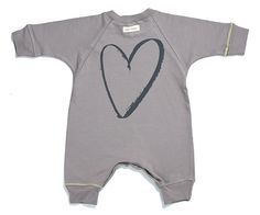 """""""HEART"""" over-sized jumpsuit grey"""