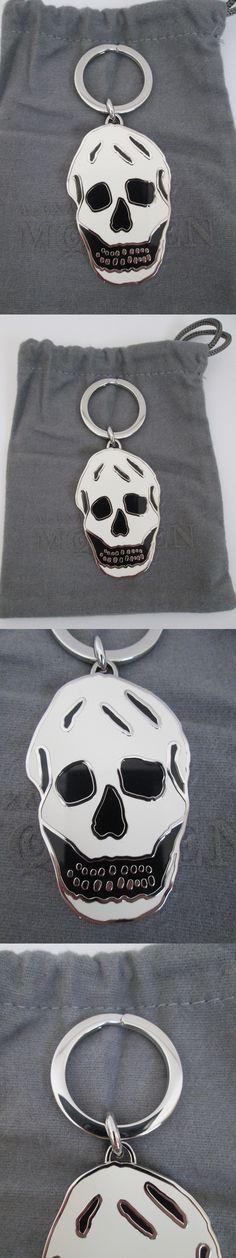 0f8c1ce0e3ff Key Chains 169280  New Alexander Mcqueen White Black Enamel Iconic Skull  Logo Key Ring Keychain -  BUY IT NOW ONLY   84.99 on eBay!