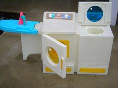 Vintage Little Tikes Washer and Dryer with ironing board/iron via Etsy