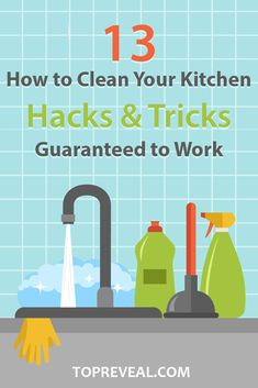 These #kitchen cleaning #tips and #tricks are affordable, easy to do, and best of all, they really work. No gimmicks, no pricey cleaners- just floors so clean you can eat off of them and counters so #shiny you'll need shades to look at them.