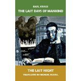 The Last Days of Mankind: The Last Night (Volume World War One, First World, Austro Hungarian, University Of Southern California, Great Words, Last Night, Satire, Hunger Games, Nonfiction