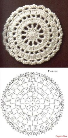 it look nice with t-shirt yarn as a rug?Would it look nice with t-shirt yarn as a rug? Crochet Motifs, Crochet Blocks, Crochet Diagram, Crochet Chart, Crochet Squares, Crochet Doilies, Crochet Flowers, Crochet Stitches, Knit Crochet