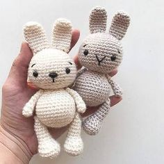 "Find and save images from the ""Handarbeit - Amigurumi / Mochimochi u. Crochet Dolls Free Patterns, Amigurumi Patterns, Baby Knitting Patterns, Free Knitting, Crochet Rabbit, Crochet Bunny, Free Crochet, Easter Crochet, Crochet For Kids"