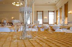 Table decor in Provo City Library Ballroom. #wedding, #ballroom, #provolibrary