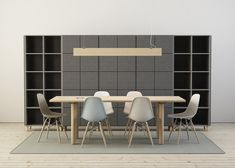 This sound-absorbing office furniture was designed to quieten open-plan workspaces.