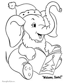 Free Printable Coloring Pictures Santa PagesChristmas
