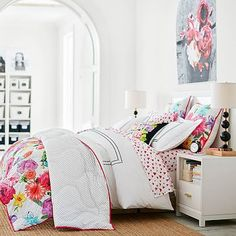 MayBaby Mod Floral Comforter + Sham #pbteen
