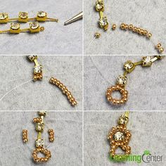 Need bling beads bracelet? Then see here, a tutorial on how to make bling rhinestone beaded bracelet with golden seed beads will be shared. Rhinestone Jewelry, Beaded Jewelry, Jewelry Bracelets, Handmade Jewelry, Bead Jewellery, Seed Bead Jewelry, Seed Beads, Schmuck Design, Jewelry Patterns