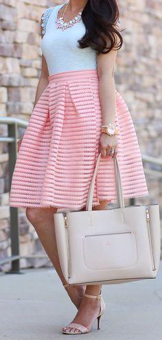 Peach Flare Skirt