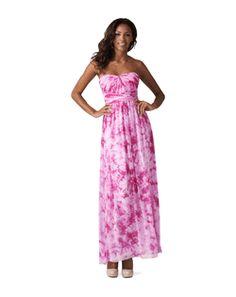 Aidan Mattox strapless dress style 449190