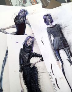 Fashion Sketchbook - fashion design sketches; fashion collection drawings; fashion portfolio // Gabrielle Nadolny