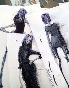 Fashion Sketchbook - fashion design sketches; fashion collection drawings; fashion portfolio // Gabrielle Nadolny