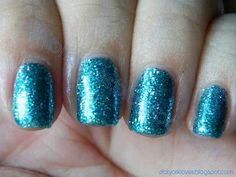 datyorkLOVES: Day 17- Glitter Nails Finger Paints Dummer Boy & L.A. Colors Teal Glitter