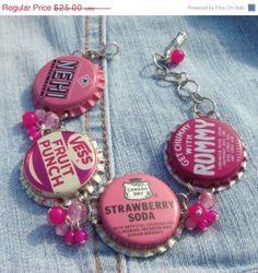 CLEARANCE SALE Pink Bubblegum  Bottlecap Pink by blingismything, $12.50