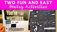 Two fun poetry activities for your middle school students! Easy and low-prep!