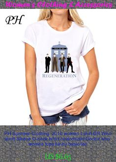 PH Summer Clothing  2016 women t shirt DR Who short Sleeve O-neck tshirt customized Doctor who  women tops funny basic tee