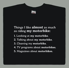 cosas que me gusta moto t shirt funny bikers superbike biker comedia regalo s xxl - Categoria: Avisos Clasificados Gratis  Estado del Producto: Nuevo sin etiquetasThings I Like Motorbike Tshirt Choose the size and colour you would like your T shirtSize ChartLength is measured from the highest point on the shoulder to the bottom edge of the garment Width is measured across the garment 2cms down from the armhole Measurements are approximate and may vary slightlyDispatch Times We aim to…