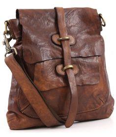 Campomaggi Lavata Shoulder Bag Leather cognac 28 cm - C1256VL-1702 - Designer Bags Shop - wardow.com