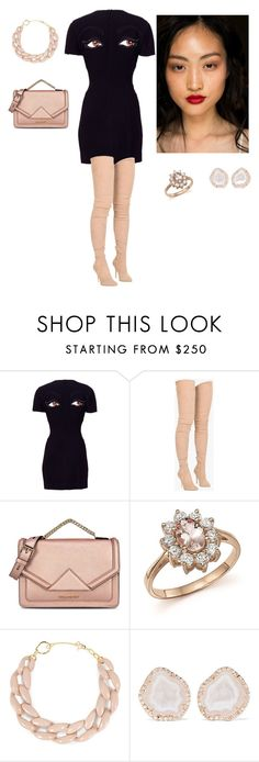 """""""Sue"""" by tessorolara100 ❤ liked on Polyvore featuring Moschino, Balmain, Rossetto, Karl Lagerfeld, Bloomingdale's, DIANA BROUSSARD and Kimberly McDonald"""