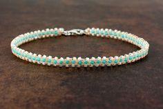 Ankle Bracelet Beaded Anklet Seed Bead Jewelry by BeadfulStrings