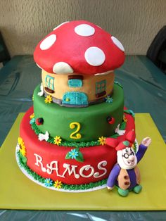Kabouter plop cake