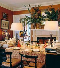 20 Fabulous Shades Of Orange Paint and Furnishings Orange Dining Room, Orange Rooms, Orange Walls, Dining Room Walls, Dining Area, Dining Table, Warm Dining Room, Orange Paint Colors, Wall Paint Colors
