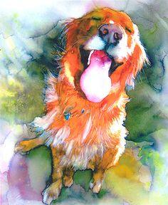 Happy Golden by The Watercolor Guy, via Flickr