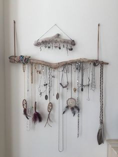 Set of 2 Driftwood Jewelry Organizer Necklace by Curiographer:
