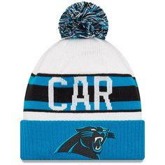 ed42501e4e9 Carolina Panthers New Era Youth Retro Cuffed Knit Hat With Pom White Blue