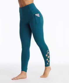 d610f370bacb0 Atlantic Deep Laced-Ankle Pocket-Accent High-Waist Leggings - Women &
