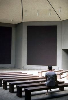 Rothko Chapel; have a chapel with art centered around God, create an atmosphere like no other place. A mesh between a church/cathedral and an art museum; place of pure awe and wonder, a place to reflect on Jesus, the Holy Spirit, and God.