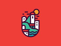 City by the Sea by Justin Pervorse - Dribbble                                                                                                                                                                                 More