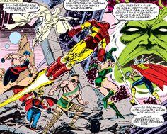 The Avengers vs Supreme Intelligence