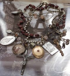 Everybody's Somebody's Fool Vintage French Rosary Necklace. $89.00, via Etsy.