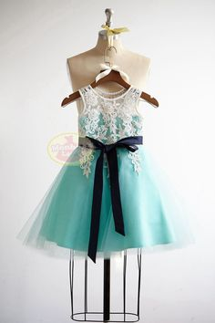 Hey, I found this really awesome Etsy listing at https://www.etsy.com/listing/253935539/v-back-lace-turquoise-blue-tulle-flower