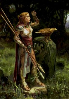 Lonely Huntress by Vladimir Rikowski
