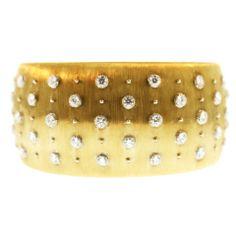 BUCCELLATI  Diamond Gold Cuff Bracelet thumbnail 1