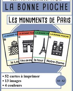 BP – The Monuments Of Paris – Miracles from Nature Vocabulary Activities, Vocabulary Words, Vocabulary Parade, Vocabulary Notebook, French Teacher, Teaching French, Foto Paris, Paris 13, French Language Learning